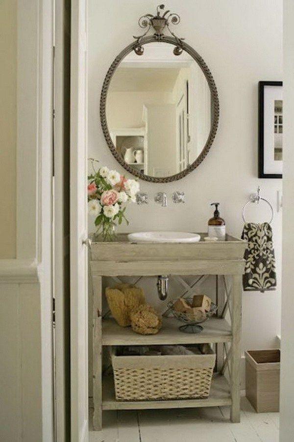 Rustic Wooden Bathroom Sink Stand.