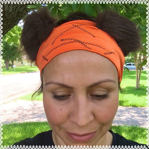 Ewok running ears headband 3 inches wide by ChickyBands on Etsy