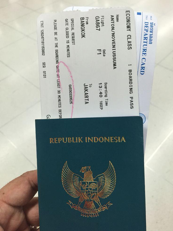 Bangkok- Jakarta  GA 867 / 18 Sep 2015
