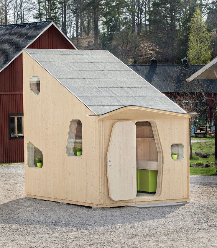 Eco-friendly Smart student units Tiny House idea+sgn by Tengbom for AF Bostäder 2