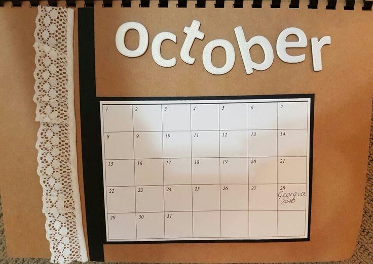 October perpetual calendar