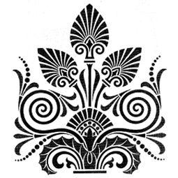 pochoir meuble motif grec