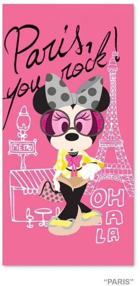 Toalla playa Disney. Minnie, Paris Toalla de playa con la imagen de uno de los personajes mas queridos Minnie Mouse.