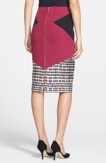 Rachel Roy 'Mosaic Illusion' Print Silk Pencil Skirt | Nordstrom