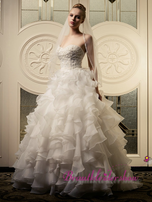 ... Volant Luxus Hochzeitskleid Spitze Korsage GWRW103 €478.42