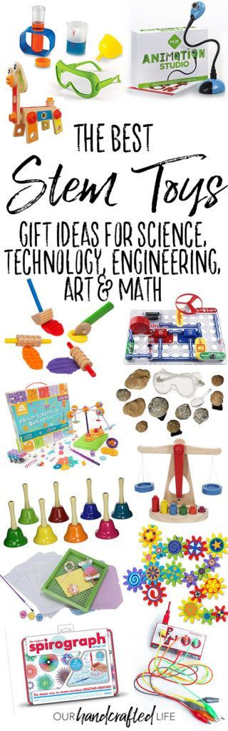 The Best STEM Gifts Ideas - Educational Gifts for Kids - Our Handcrafted Life - The Best STEM Toys is part of our series of gift guides featuring more than 50 Intentional Gift Ideas for Kids. Check out the whole series to find great gifts that encourage open-ended play, develop imagination, promote active play, and foster creativity. With Science, Technology, Engineering, Art, and Math, these STEAM toys will teach kids while they play. #teachingkidsmath