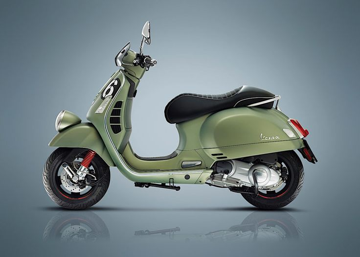 vespa\'s new special edition named sei giorni, which translates to six days, celebrates the original vespa sport scooter that won nine gold medals at the international six days of varese in 1951.