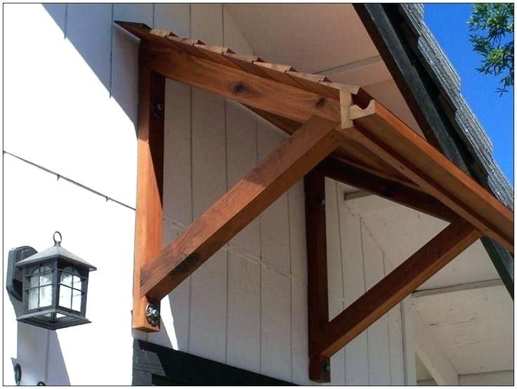 Image Result For How To Build An Awning Over A Door Diy Awning Door Awnings Timber Front Door