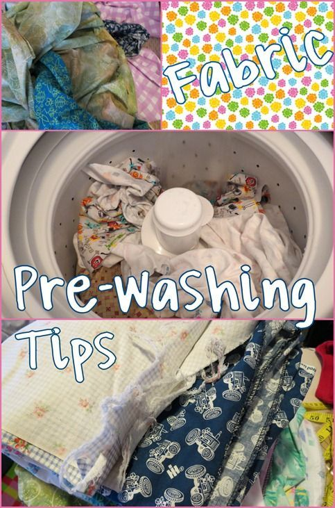 Fabric Pre-Washing Tips :: All my tips on washing fabric before sewing ::