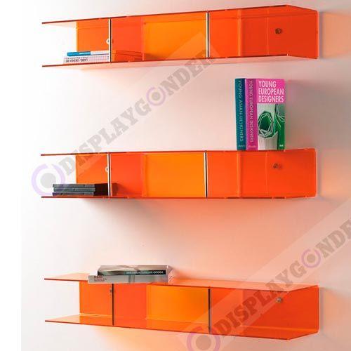 Renkli Ev ve Ofis Tipi Pleksi Kitap Rafları