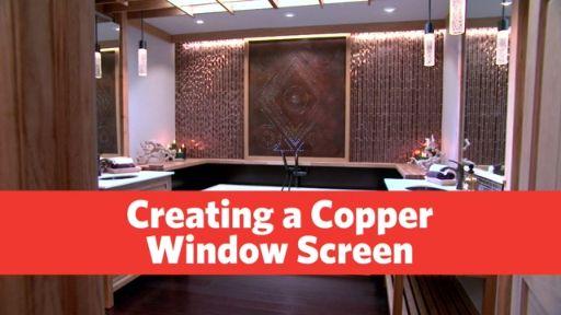 Build a Custom Copper Window Screen
