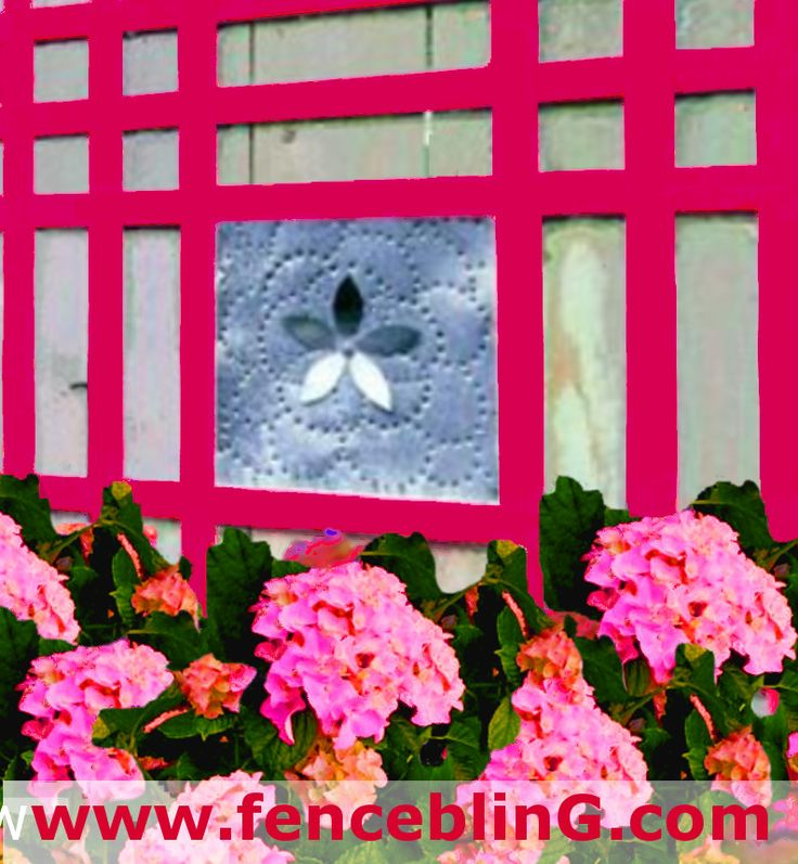 Outdoor Wall Art Metal Flower Insert Fence Bling in Pink is the perfect vibrant Color for any yard. This Outdoor Home Decor is the perfect shade of pink and very in and complimentary with green, so outdoors it makes a nice pop of color. This Outdoor and Garden Decor and Garden with a flower design gives this piece a modern but classic and long lasting style.