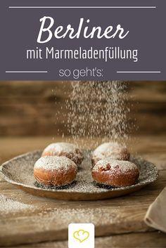 Berliner mit Marmeladenfüllung