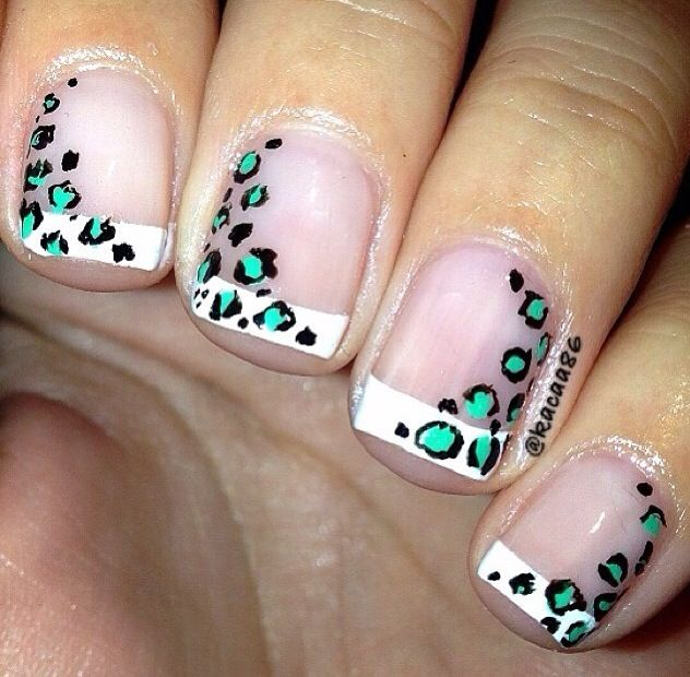 cheetah nails simple nails nail designs nails