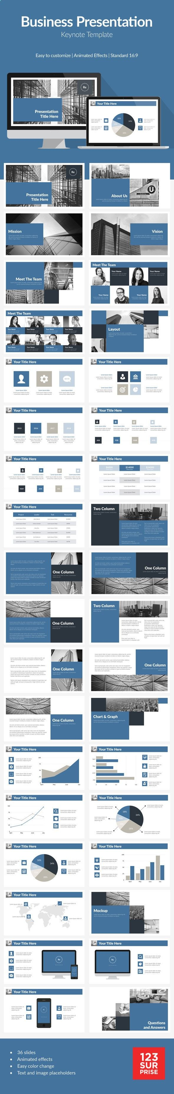 Blue Corporate Business Presentation Template #design #slides Buy Now: graphicriver.net/...