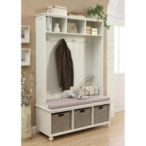 $249 Home Decorators Collection Amelia Wooden Wall Hutch in White SK18490 at The Home Depot - Mobile