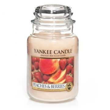 Peaches & Berries : Large Jar Candle : Yankee Candle