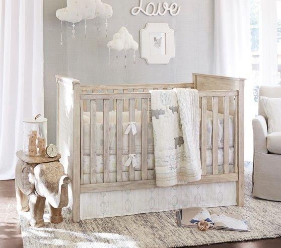 Organic Charlie Hippo Nursery Bedding | Pottery Barn Kids