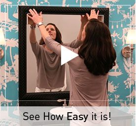 See How Easy It Is To Frame Your Own Bathroom Mirrors While They 39 Re On The Wall Frames For