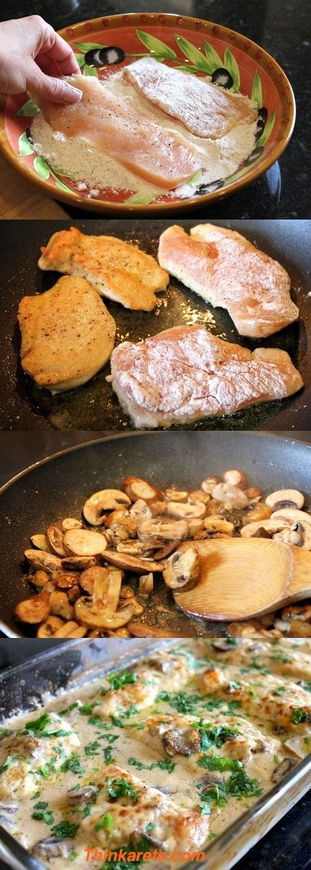 Chicken and mushrooms. such a delicious combination.