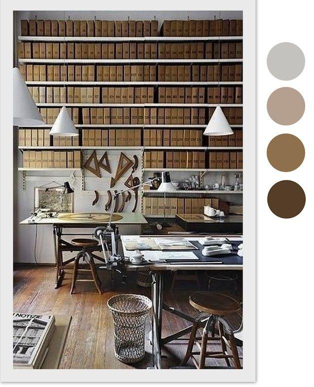 Colour combination, palette: browns