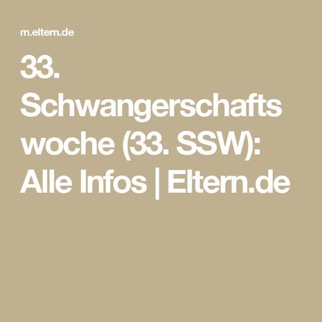 33. Schwangerschaftswoche (33. SSW): Alle Infos  | Eltern.de