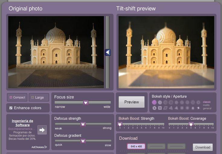 Añade efecto Tiltshift a tus fotos en solo 3 pasos con Tilt-Shift Maker