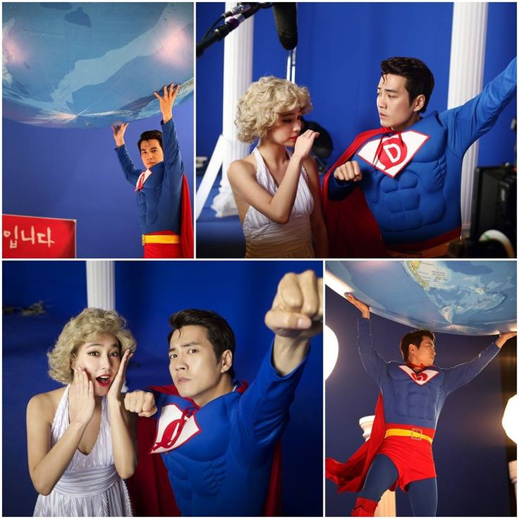 """Cunning Single Lady"" Lee Min Jung and Joo Sang Wook as Marilyn Monroe and Superman"