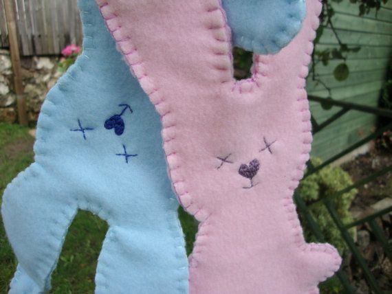 New Baby Personalised Blanket Toy Keepsake by JHillGifts, $15.00