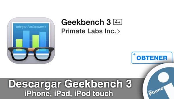 #Enlace para #descargar gratis aplicación #Geekbench 3 para #iOS en #App Store. Con esta utilidad puede hacer un test de rendimiento de su iPhone, iPad, iPod touch.