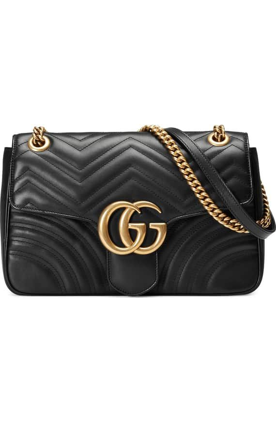592fe49586f0 Product Image 0 Gg Marmont, Quilted Leather, Leather Shoulder Bag, Wallets,  Leather