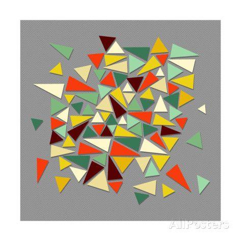 Trendy Vintage Hipster Geometric Elements Kunsttrykk