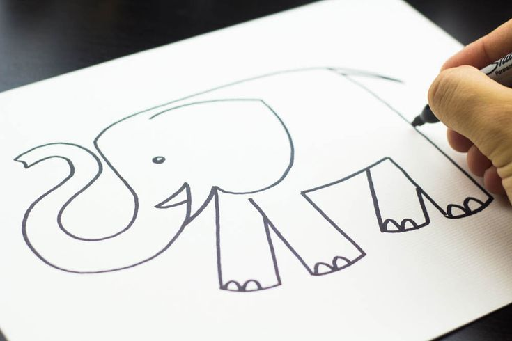 How to draw the world's cutest elephant :)