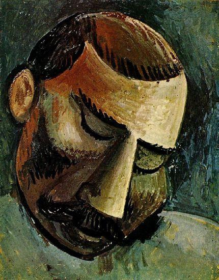 "Pablo Picasso - ""Man head"", 1908"