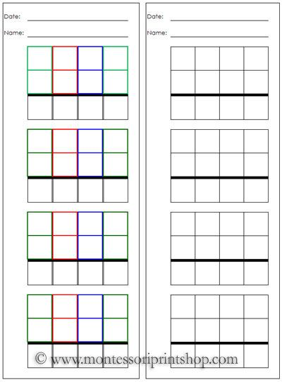 14 best Montessori Papers images on Pinterest Kid stuff - free printable grid paper for math