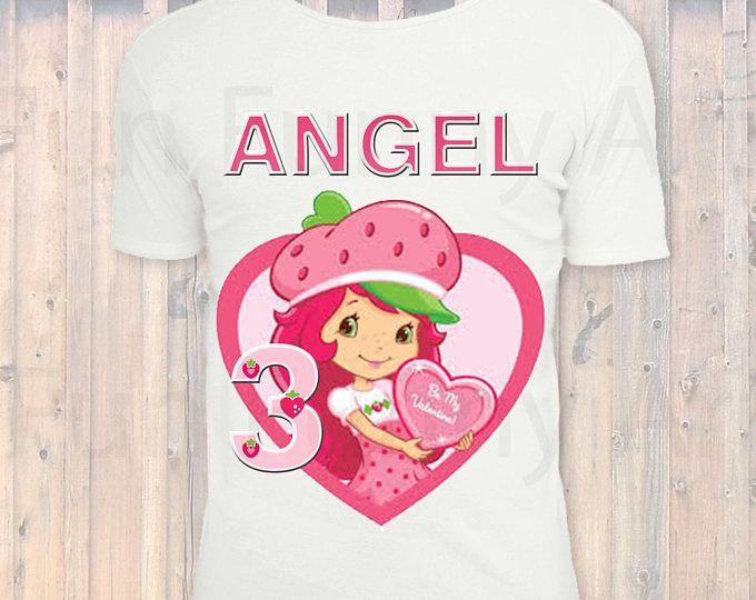 Strawberry Shortcake Birthday Girl Shirt Personalized Iron On Transfer DIGITAL FILE