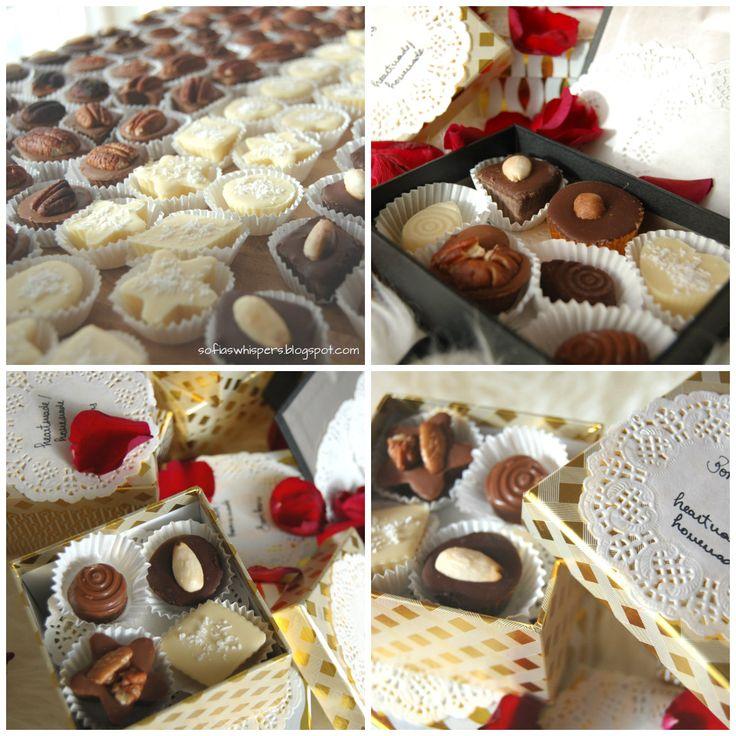 Bombons caseiros, homemade chocolates, christmas gift ideas, chocolate