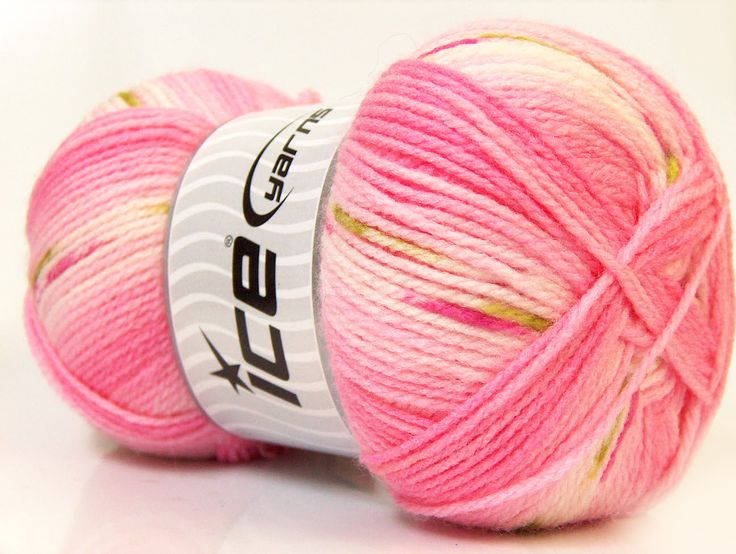 Baby Design White Pink Green at Ice Yarns Online Yarn Store
