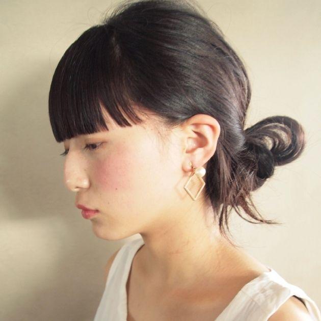 ぱっつん前髪がかわいい♡アレンジのやり方とヘアスタイル - Yahoo! BEAUTY