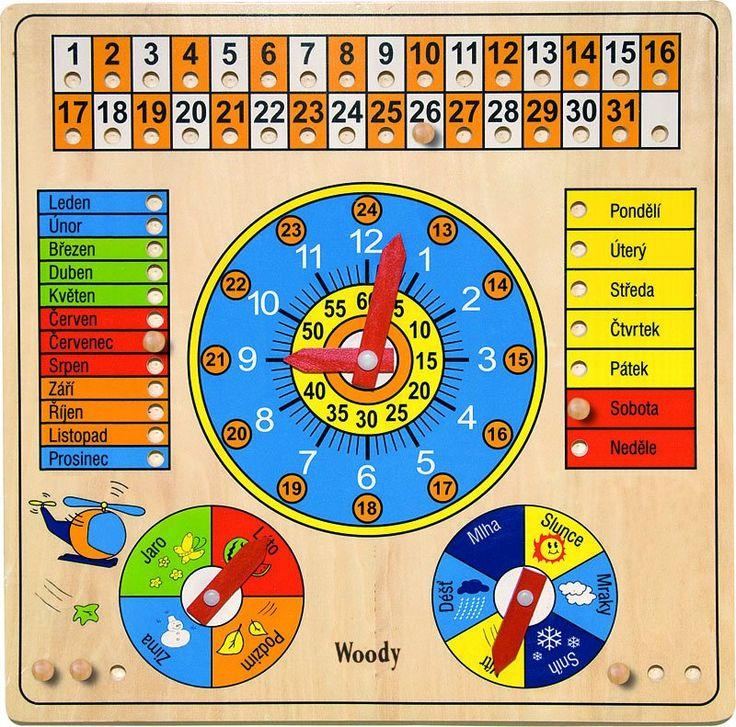 Woody   Viacúčelový kalendár s hodinami a barometrom  | MALL.SK