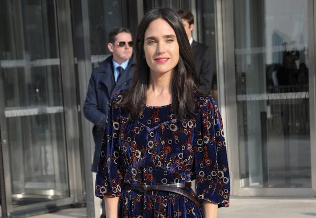 Jennifer Connelly at Louis Vuitton Fashion Show in Paris in March 2015....