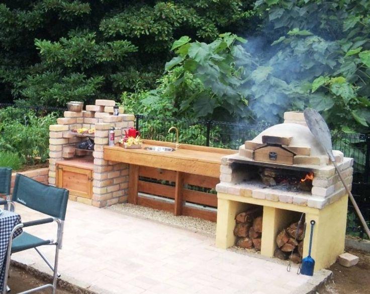 M s de 25 ideas incre bles sobre hornos de ladrillo en for Asadores de jardin de ladrillo