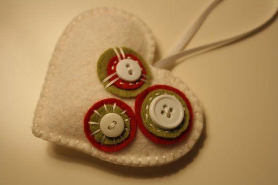 Felt heart ornament for sale