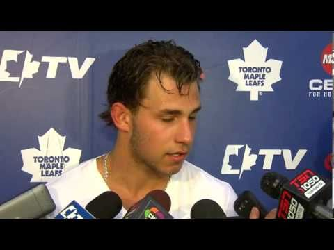 Josh Leivo chats with the media