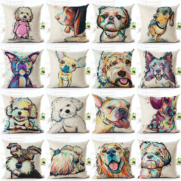 Love your pup? Who's the cutest? Show everyone why your pup is the cutest with these unique cushion covers. Maltese, Blood Hound, Shih Tzu, Dachshund, Bull Teri