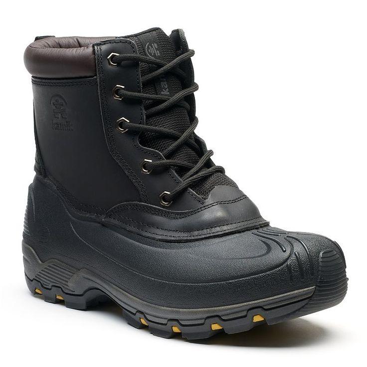 Kamik Hawksbay Men's Waterproof Winter Boots, Size: 11, Black