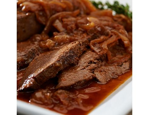 Slow Cooker Brisket with Caramelized Onions Ingredients:  3–4 lbs beef brisket, first or flat cut 3 Tbsp oil 10 cups thinly sliced onions 4 cloves garlic, smashed 1 cup tomato purée 1 cup beef stock 1/4 cup red wine vinegar 2 Tbsp brown sugar 1/2 tsp dried thyme 1 Tbsp Worcestershire sauce ...