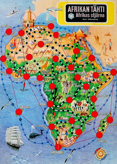 "Afrikan tähti, ""the star of Africa"", is a Finnish board game designed by Kari Mannerla originally in 1951."