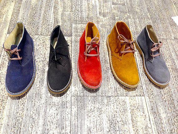 Desert boots men/ women genuine leather winter by SANDALIANAS
