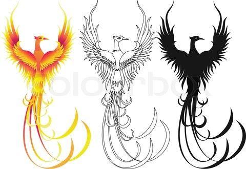 Phoenix Silhouette   Stock vector of 'Phoenix bird'